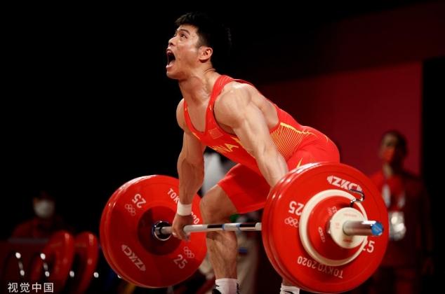 东京奥运会举重男子61公斤级 李发彬强势夺冠